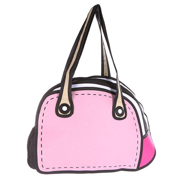 Сумка через плечо женская Jump from paper 2D Pretty Handbag Pink/White/BlackНежно-розовый цвет с контрастными деталями создает ощущение легкости и воздушности. Что может быть лучше?Технические характеристики: Основное отделение на молнии для книг, ноутбука или одежды.Наружный карман на молнии.Изготовлен из водонепроницаемого материала.Ручки.<br><br>Цвет: розовый,белый,черный<br>Тип: Сумка через плечо<br>Возраст: Взрослый<br>Пол: Женский