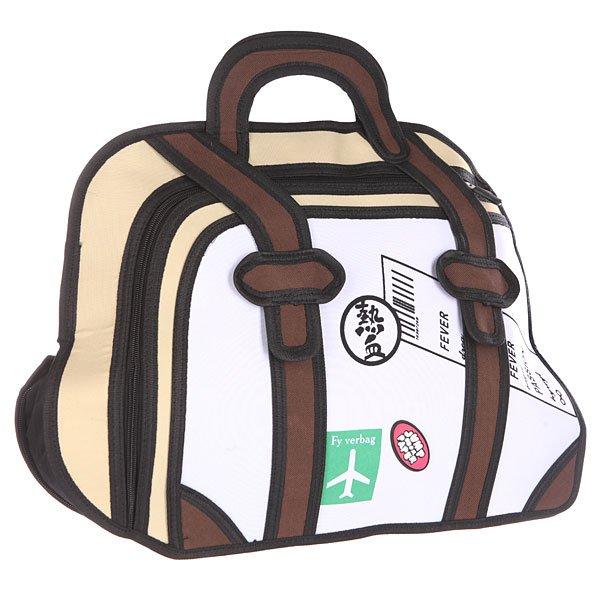 Сумка женская Jump from paper 2D Travaller White/Biege/BlackЯркая мультяшная сумка в контрастной цветовой гамме на каждый день.Технические характеристики: Большое основное отделение на молнии, в которое можно положить книги, ноутбук или немного одежды.Наружный карман на молнии.Изготовлена из водонепроницаемого материала.Ручка.Декоративная застежка.<br><br>Цвет: белый,бежевый,черный<br>Тип: Сумка<br>Возраст: Взрослый<br>Пол: Женский