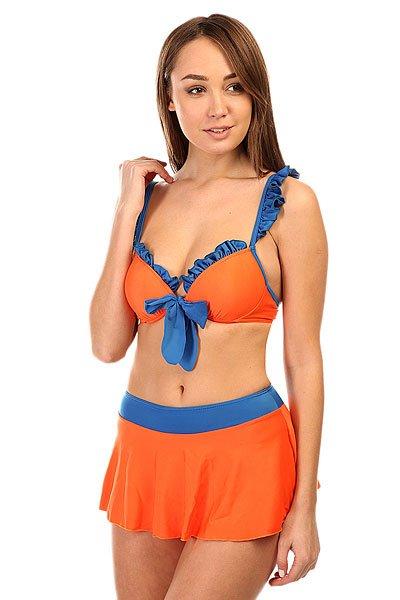 Купальник женский Look Haixiang Orange/Blue<br><br>Цвет: оранжевый,синий<br>Тип: Купальник<br>Возраст: Взрослый<br>Пол: Женский