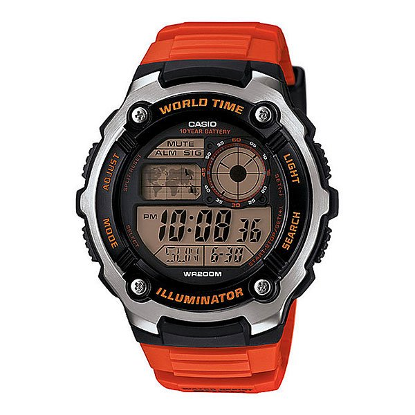 Часы Casio Collection 65204 Ae-2100W-4A Orange/Grey часы casio collection ae 1000wd 1a grey