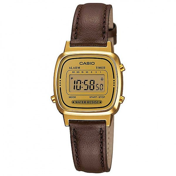 Часы Casio Collection 57149 La670Wegl-1E Brown