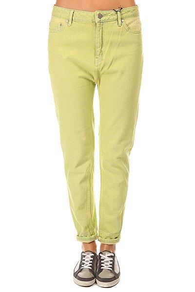 Джинсы прямые женские Insight Brewster Lemon Lime<br><br>Цвет: зеленый<br>Тип: Джинсы прямые<br>Возраст: Взрослый<br>Пол: Женский