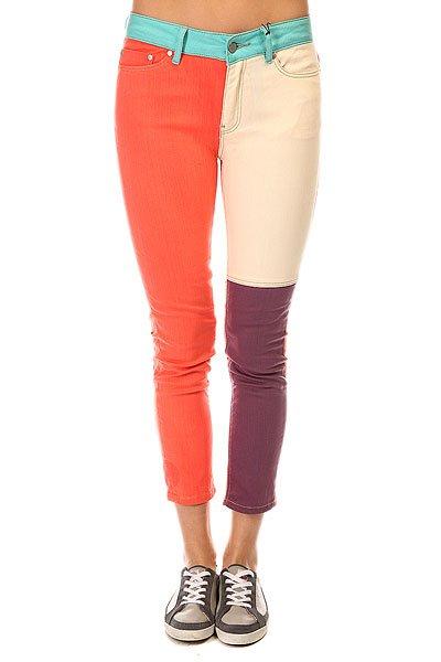 Джинсы узкие женские Insight Blockade Jeans Multi<br><br>Цвет: мультиколор<br>Тип: Джинсы узкие<br>Возраст: Взрослый<br>Пол: Женский