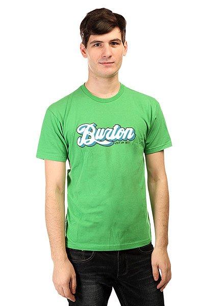 Футболка Burton Lgo Horizntl Acres<br><br>Цвет: зеленый<br>Тип: Футболка<br>Возраст: Взрослый<br>Пол: Мужской