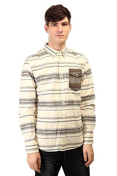 Рубашка Burton Glade Ls Wvn Sw Stripe<br><br>Цвет: серый,бежевый<br>Тип: Рубашка<br>Возраст: Взрослый<br>Пол: Мужской