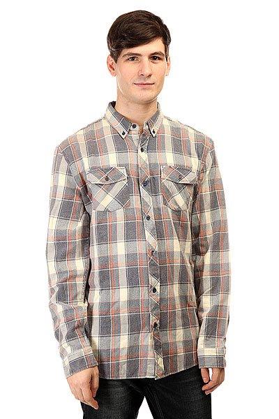 Рубашка в клетку Analog Alamo Ls Flannel Ink<br><br>Цвет: синий,оранжевый,бежевый<br>Тип: Рубашка в клетку<br>Возраст: Взрослый<br>Пол: Мужской