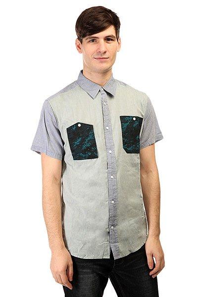 Рубашка Burton Gilman Ss Wvn Dark Chambray<br><br>Цвет: голубой<br>Тип: Рубашка<br>Возраст: Взрослый<br>Пол: Мужской