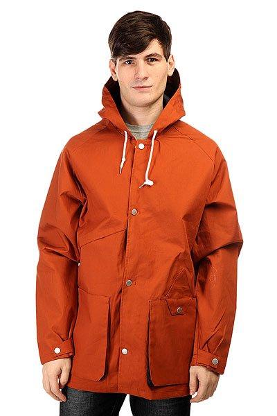 Куртка Volcom Storken Jacket CopperСтильная весенняя парка с капюшоном.Характеристики:100% хлопок с покрытием 3000мм. Внутренняя подкладка. Застежка – кнопки.Накладные карманы для рук. Фиксированный капюшон с регулировкой.Карман для телефона.<br><br>Цвет: коричневый<br>Тип: Куртка<br>Возраст: Взрослый<br>Пол: Мужской
