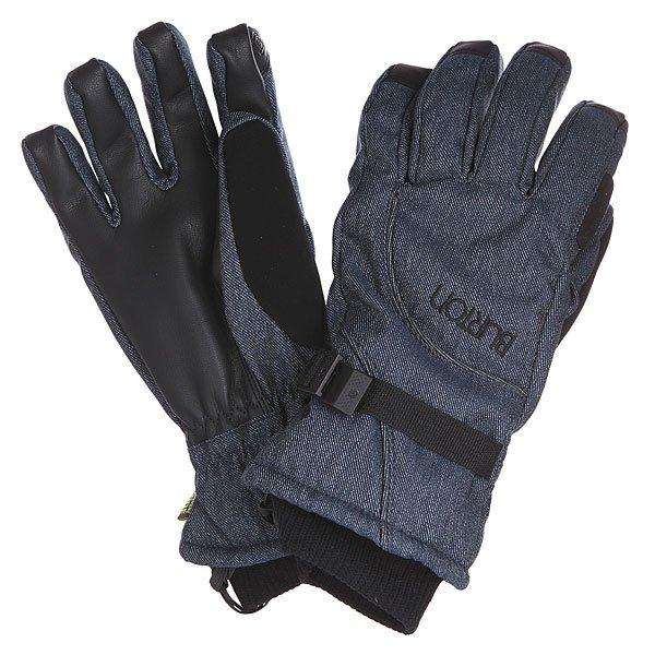 Перчатки сноубордические женские Burton Pele Glv Blue Denim<br><br>Цвет: черный,синий<br>Тип: Перчатки сноубордические<br>Возраст: Взрослый<br>Пол: Женский