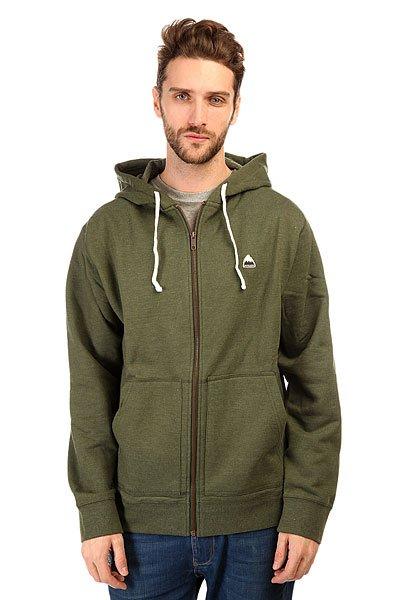 Толстовка классическая Burton Mb Roe Hoodie Rifle Green HeatherКомфортная и теплая мужская толстовка из хлопка с капюшоном, которую можно носить в любую погоду.Технические характеристики: Фиксированный капюшон на шнурках.Карманы для рук кенгуру.Классический крой.Декоративная строчка.Застежка - молния.<br><br>Цвет: зеленый<br>Тип: Толстовка классическая<br>Возраст: Взрослый<br>Пол: Мужской