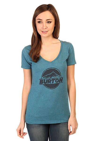 Футболка женская Burton Peaked Rec V Heather Cerulean