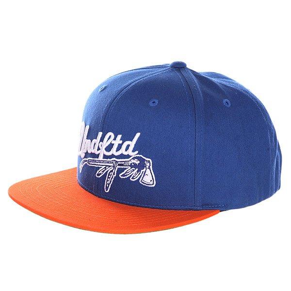 Бейсболка с прмым козырьком Undefeated War Paint Cap Blue<br><br>Цвет: синий,оранжевый<br>Тип: Бейсболка с прмым козырьком<br>Возраст: Взрослый