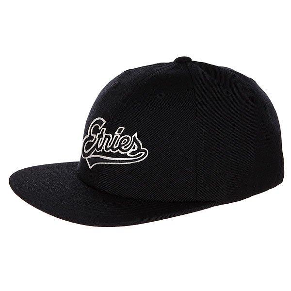 Бейсболка с прямым козырьком Etnies Tilney Ball Cap Black бейсболка с прямым козырьком etnies tilney ball cap black