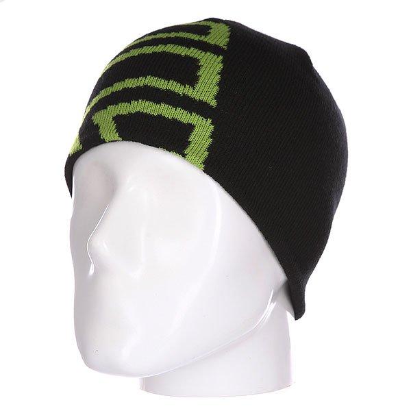 Шапка детская Etnies Icon Outline Beanie Black/Green<br><br>Цвет: черный,зеленый<br>Тип: Шапка<br>Возраст: Детский