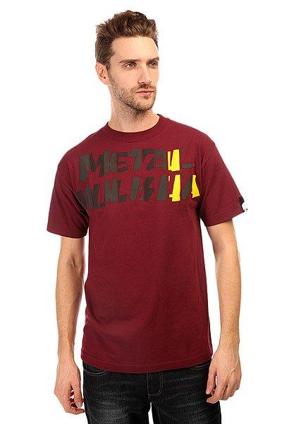 Футболка Metal Mulisha Call Sign Burgundy<br><br>Цвет: бордовый<br>Тип: Футболка<br>Возраст: Взрослый<br>Пол: Мужской