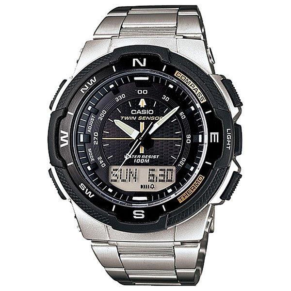 Часы Casio Collection Sgw-500hd-1b SilverУдобные и стильные часы на каждый день.Характеристики:Электролюминисцентная подсветка. Цифровой компас. Датчик измеряет температуру окружающего воздуха вокруг часов и отображает ее на экране в градусах °C (-10°C /+60°C). Отображение данных о луне. Данные о восходе/закате солнца. Функция мирового времени. Функция секундомера: Прошедшее время измеряется с точностью в 1/100 секунды. Пределы измерения достигают 24 часов. Таймер до 100 минут, точностью до 1 секунды - для поклонников точных измерений: в заданное время таймер обратного отсчета с помощью звукового сигнала напомнит вам о том, что установленный промежуток времени прошел. Сигнал можно установить как на следующую минуту, так и на любое время до 100 минут. 5 независимых будильников. Включение/выключение звука кнопок. Автоматический календарь. 12/24-часовое отображение времени. Корпус из полимерного пластика. Браслет из нержавеющей стали. Всегда надежно: у этих часов есть особая безопасная предохранительная защелка, которая помогает предотвратить случайное расстегивание ремешка. Водонепроницаемость (10 Бар).Идеально подходит для плавания с маской и трубкой: часы являются водонепроницаемыми до 10 Бар/на глубине до 100 метров. Значение метров не относится к глубине погружения, но относится к атмосферному давлению, используемого в процессе испытания на водонепроницаемость. (ISO 2281). Аккумулятор обеспечивает часы достаточным питанием приблизительно на два года. Точность хода: +/-30 сек в месяц. Тип батареи:SR927W x 2.<br><br>Цвет: серый<br>Тип: Кварцевые часы<br>Возраст: Взрослый<br>Пол: Мужской