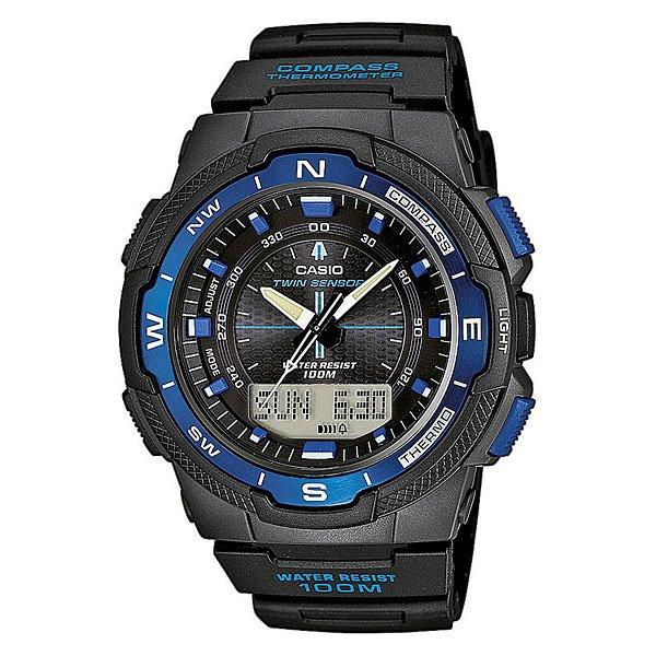 Часы Casio Collection Sgw-500h-2b BlackМногофункциональные и сдержанные часы в спортивном стиле станут идеальным выбором для современных мужчин. Характеристики:Коллекция Sports Gear.Циферблат подсвечивается светодиодом. Встроенный цифровой компас. Отображение возраста ифазы Луны, времени восхода и захода солнца. Встроенный датчик температуры от -10° до +60°С с точностью 0,1°C. Секундомер с точностью показаний 1/100с и временем измерения 24ч.Таймер обратного отсчета от 1мин до 100мин.Мировое время.12-ти и 24-х часовой форматвремени. Алюминиевыйбезель. Функция включения/отключения звука.<br><br>Цвет: черный,синий<br>Тип: Кварцевые часы<br>Возраст: Взрослый<br>Пол: Мужской