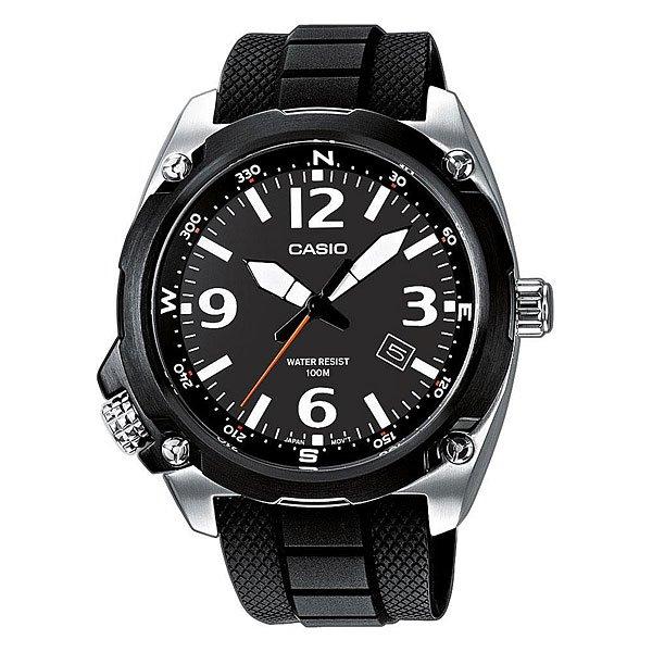 Часы Casio Collection Mtf-e001-1a Black/SilverМужские кварцевые наручные часы в стальном корпусе на силиконовом ремешке черного цвета, имитирующем звенья браслета. Характеристики:Безель и циферблат черного цвета. Точный кварцевый механизм. Центральная секундная стрелка.Окошко даты. Элемент питания SR626SW. Срок службы батареи 24-36 месяца.Точность хода: не хуже +/-20 секунд в месяц. Минеральное стекло устойчивое к возникновению царапин. Необритовое светонакопительное покрытие обеспечивает длительное послесвечение в темноте даже после кратковременного нахождения на свету.Поворотный лимб с высеченными направлениями сторон света. Корпус из высококачественного стального сплава 316L с высокими антикоррозийными свойствами.Водозащита до 10 АТМ. Задняя крышка с винтовым фиксатором.Завинчивающаяся заводная головка. Ремешок из полимерного материала.<br><br>Цвет: серый,черный<br>Тип: Кварцевые часы<br>Возраст: Взрослый<br>Пол: Мужской