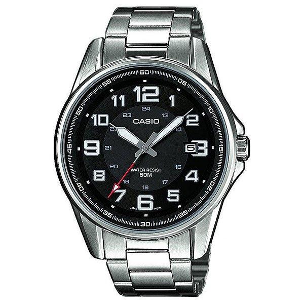 Часы Casio Collection Mtp-1372d-1b Silver/BlackКлассические наручные часы с окошком даты в стальном корпусе круглой формы на браслете.Характеристики:Точный кварцевый механизм. Центральная секундная стрелка. Точность хода не хуже -10 +15 сек./в месяц. Минеральное стекло устойчивое к возникновению царапин. Корпус из высококачественного стального сплава 316L с высокими антикоррозийными свойствами. Водозащита до 5 АТМ. Регулируемый по длине браслет из нержавеющей стали. Надежный браслетный замок с тройным сгибом.<br><br>Цвет: черный,серый<br>Тип: Кварцевые часы<br>Возраст: Взрослый<br>Пол: Мужской