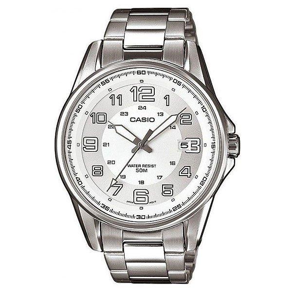Часы Casio Collection Mtp-1372d-7b SilverКлассические наручные часы с окошком даты в стальном корпусе круглой формы на браслете.Характеристики:Точный кварцевый механизм. Центральная секундная стрелка. Точность хода не хуже -10 +15 сек./в месяц. Минеральное стекло устойчивое к возникновению царапин. Корпус из высококачественного стального сплава 316L с высокими антикоррозийными свойствами. Водозащита до 5 АТМ. Регулируемый по длине браслет из нержавеющей стали. Надежный браслетный замок с тройным сгибом.<br><br>Цвет: серый<br>Тип: Кварцевые часы<br>Возраст: Взрослый<br>Пол: Мужской