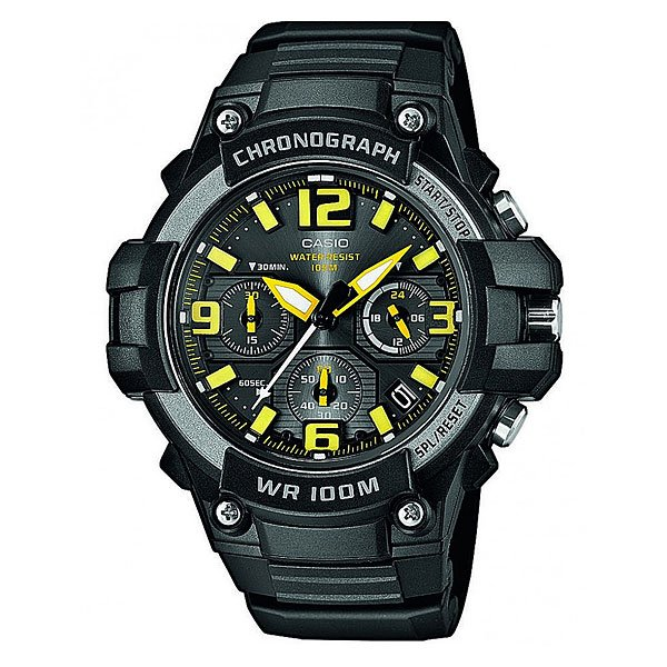 Часы Casio Collection Mcw-100h-9a Black/Yellow часы casio collection mcw 100h 3a black green