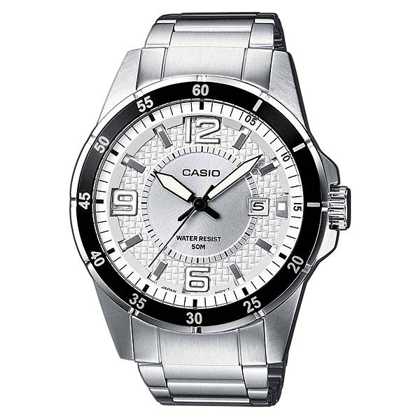 Часы Casio Collection Mtp-1291d-7a Silver/Black casio mtp 1291d 7a