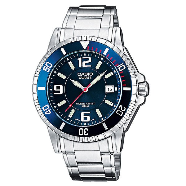 Часы Casio Collection Mtd-1053d-2a Silver/Blue масло 2 тактное api tc с дозатором 1л mtd