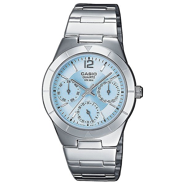 Часы Casio Collection Ltp-2069d-2a Silver/Blue кварцевые часы casio collection ltp e118g 5a