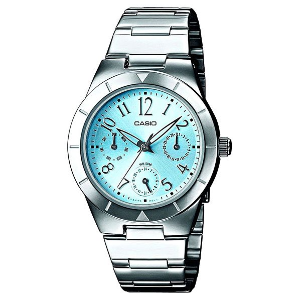 Часы Casio Collection Ltp-2069d-2a2 Silver/Blue кварцевые часы casio collection ltp e118g 5a