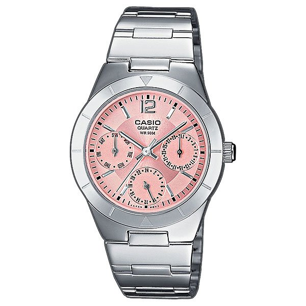 Часы Casio Collection Ltp-2069d-4a Silver/Pink кварцевые часы casio collection ltp e118g 5a