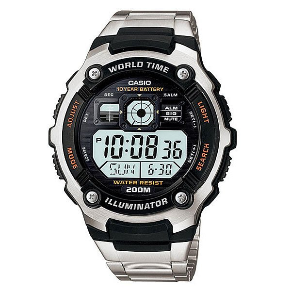 Часы Casio Collection Ae-2000wd-1a Black/Silver часы casio collection ae 1000wd 1a grey
