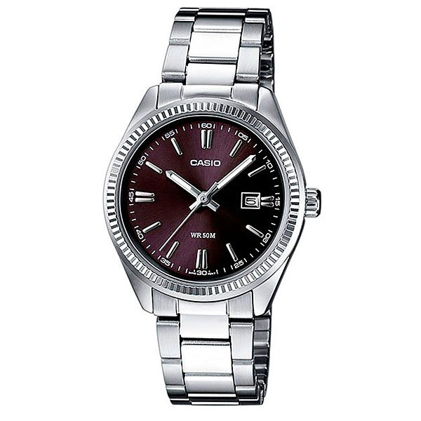 Часы Casio Collection Ltp-1302pd-1a1 Silver/Burgundy casio ltp 1302pd 7a1