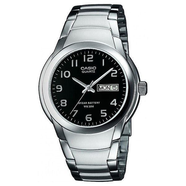 Часы Casio Collection Mtp-1229d-1a Silver/Black