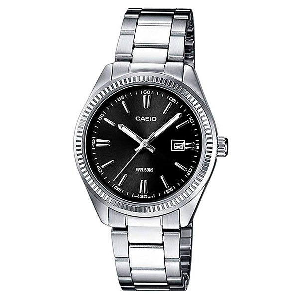 Часы Casio Collection Mtp-1302pd-1a1 Silver/Black часы casio collection mtp 1302pd 7b silver