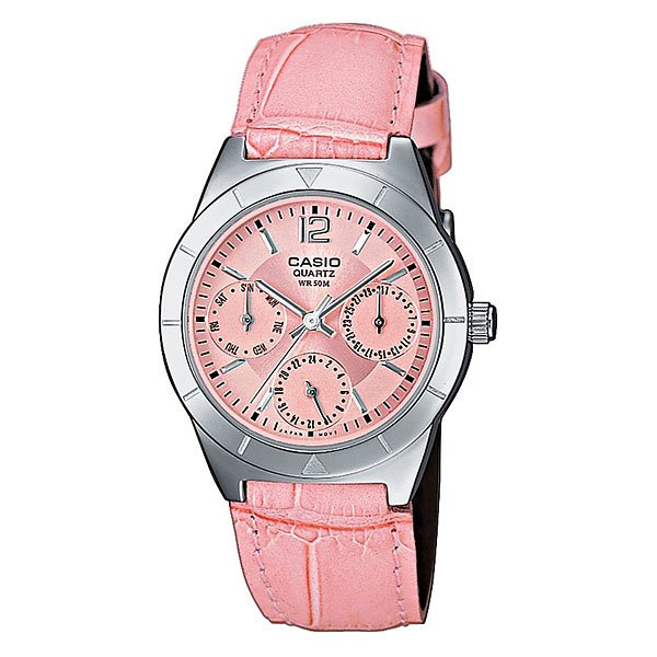Часы женские Casio Collection Ltp-2069l-4a Silver/Pink casio ltp 2069l 4a