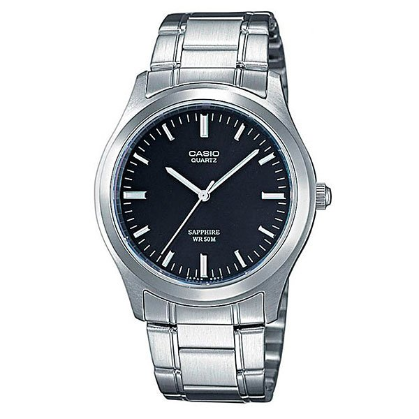 Часы Casio Collection Mtp-1200a-1a Silver/Black часы casio collection mtp 1314pd 1a silver black