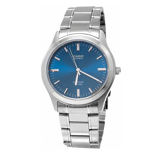 Часы Casio Collection Mtp-1200a-2a Silver/Blue casio mtp 1200a 2a
