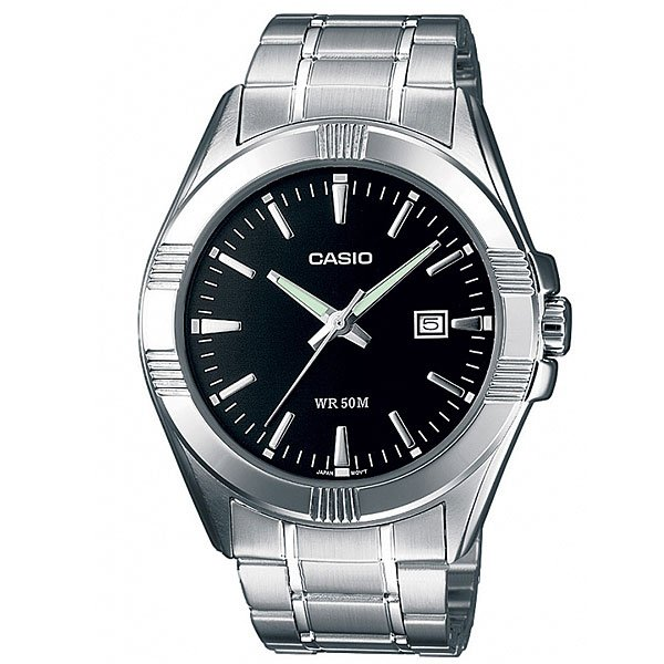 Часы Casio Collection Mtp-1308pd-1a Silver/Black часы casio collection mtp 1314pd 1a silver black