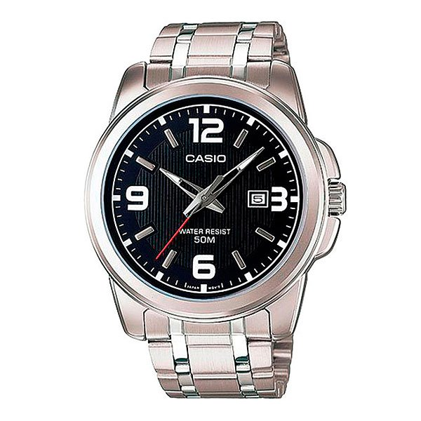 Часы Casio Collection Mtp-1314pd-1a Silver/Black часы casio collection mtp 1314pd 1a silver black