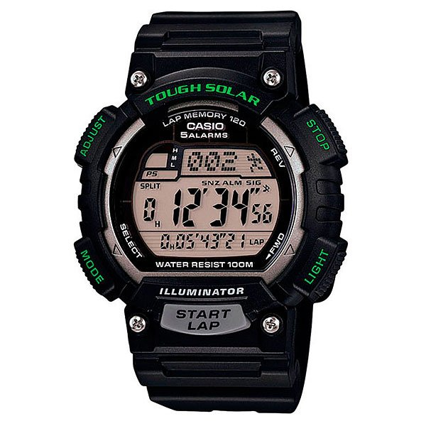 Часы Casio Collection Stl-s100h-1a Black casio sports stl s100h 4a