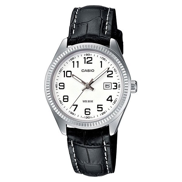 Часы Casio Collection Ltp-1302pl-7b Silver/Black кварцевые часы casio collection ltp e118g 5a