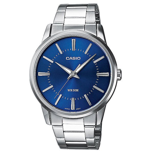 цена  Часы Casio Collection Mtp-1303pd-2a Silver/Blue  онлайн в 2017 году