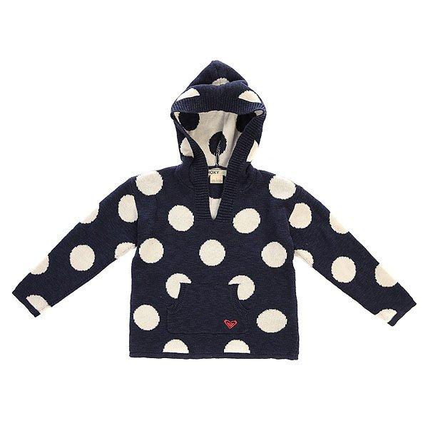 Толстовка кенгуру детская Roxy Drop Of Rain K Swtr Ikat Polka Dot<br><br>Цвет: синий,белый<br>Тип: Толстовка кенгуру<br>Возраст: Детский