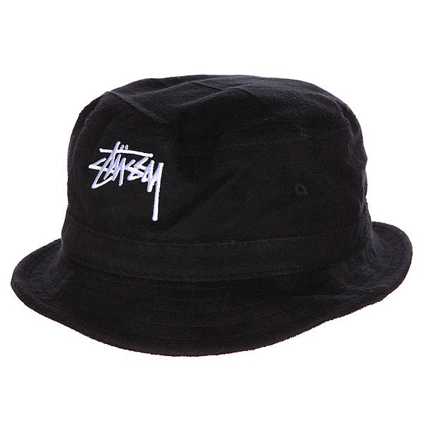 Панама Stussy Stock Terry Bucket Hat Black