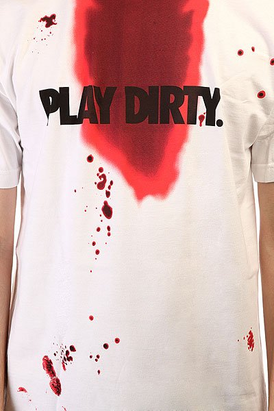 Футболка Undefeated Play Dirty Blood Tee White от Proskater