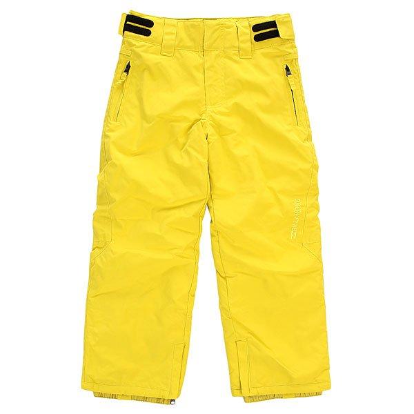 Штаны сноубордические детские Billabong Classic Boy CitrusУникальные штаны из переработанного полиэстера идеальны для катания на склоне или для прогулок в морозные дни.Технические характеристики: Технология GroRoom - позволяет удлинять одежду по мере роста ребенка.Критические швы проклеены.Регулировка талии.Карманы для рук с трикотажной подкладкой.Водонепроницаемые гетры.<br><br>Цвет: желтый<br>Тип: Штаны сноубордические<br>Возраст: Детский