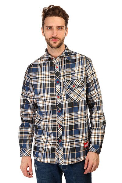 Рубашка в клетку Skills Check Shirt Beige/Black/Blue