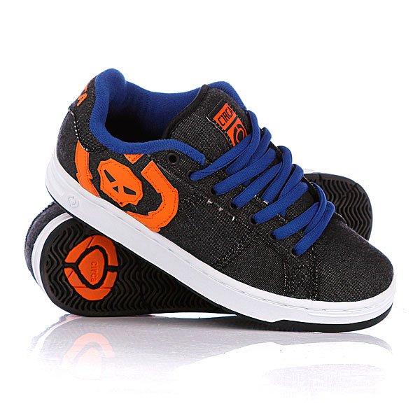 Кроссовки женские Circa 211 Bold Black/Blue/OrangeЦвет дополнительных шнурков: черный<br><br>Цвет: серый<br>Тип: Кроссовки<br>Возраст: Взрослый<br>Пол: Женский
