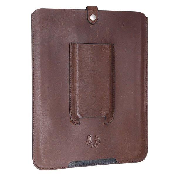 цена Чехол для iPad Fred Perry Leather Tablet Case Brown онлайн в 2017 году