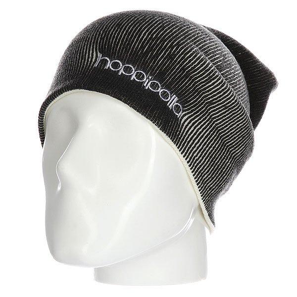 Шапка Hoppipolla Eiki Helgason Black/WhiteСтильная шапка для тех, кому важна каждая деталь. Контрастная цветовая гамма, вышитый логотип, а также удлиненный фасон подчеркнут уникальный стиль ее владельца.Технические характеристики: Материал - акрил.Мелкая двухсторонняя вязка.Удлиненная макушка.Вышитый логотип.Шапку можно носить как с отворотом, так и без него.<br><br>Цвет: черный,белый<br>Тип: Шапка<br>Возраст: Взрослый<br>Пол: Мужской